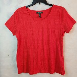 Lauren Ralph Lauren red blouse